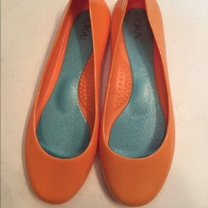 7c4c037ea OKA b. Shoes - OKA-B Okabashi NWOT Orange ballet flats size 6 36